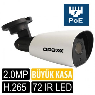 OPAX-2532P 2 MP POE 1080P 4MM CS LENS 72 IR LED H.265 LOW STREAM SMART IP
