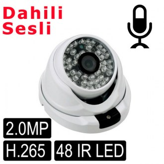 OPAX-3132 2 MP 1080P H.265 3.6mm Dahili Sesli  48 IR Led IP Dome