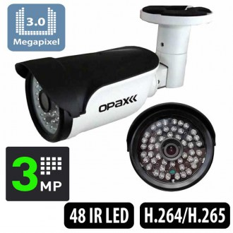 OPAX-3649 3MP H.265 3.6mm Lens 48 IR Led IP Bullet Kamera  3516EV200+S03