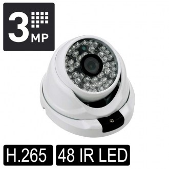 OPAX-7649 3 MP H.265 3.6mm Lens 48 IR Led IP Dome Kamera 3516EV200+S03
