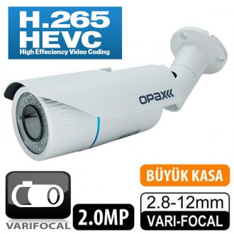 OPAX-7735 2 MP 1080P H.265 2.8-12mm Varifocal Lens 42 IR Led IP Bullet