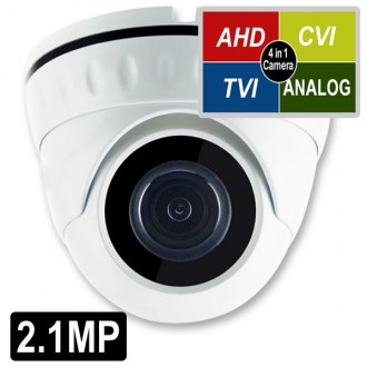 OPAX-1109 2.1 MP 1080P 4 in 1 HD 3.6mm Lens 18 Smart IR Led Sony Chipset AHD Dome Kamera