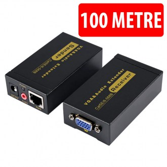 100 Metre 1080p VGA & Audio Extender RJ45 CAT5e/6
