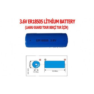 3.6V ER18505 LİTHİUM BATTERY (LA60U GUARD TOUR BEKÇİ TUR PİL)