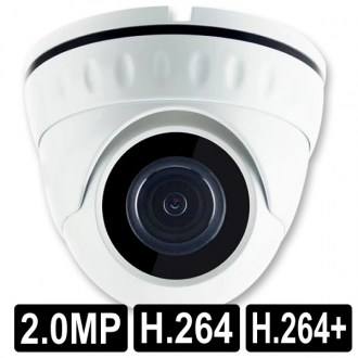 OPAX-1103 2 MP FULHAN 1080P 3.6MM LENS H.264/H.264+ IP DOME KAMERA