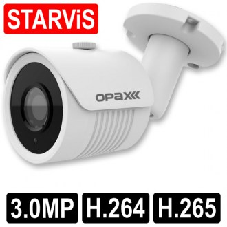 OPAX-1106 3 MP (2065x1536) H.264/H.265 3.6mm Lens 2 IR Led Sony Starvis IP Bullet Kamera