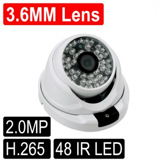 OPAX-2132 2 MP 1080P H.265 3.6mm Lens 48 IR Led IP Dome  Kamera