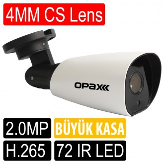 OPAX-2232 2 MP 1080P 4MM CS LENS 72 IR LED H.265 LOW STREAM SMART IP KAMERA