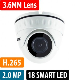 OPAX-3432 2 MP 1080P H.265 3.6mm Lens 18 Smart Led IP Dome Kamera