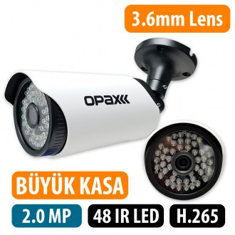 OPAX-5032 2 MP 1080P H.265 3.6mm Lens 48 IR Led IP Bullet