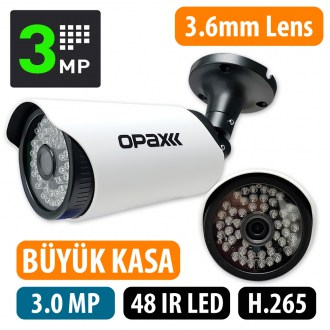 OPAX-5649 3 MP H.265 2304×1296  3.6mm Lens 48 IR Led IP Bullet 3516EV200+S03