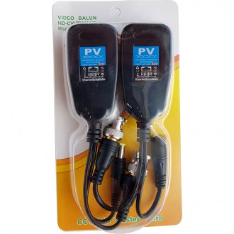HD-CVI/AHD/TVI 1080p 3MP-5MP BNC CCTV Pasif Transceivers Cat6 CCTV UTP Video Balun IPC