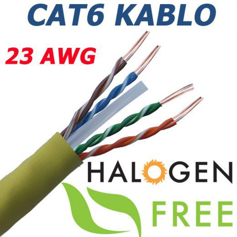 500 METRE CAT6 23AWG UTP HALOJEN FEE NETWORK KABLOSU
