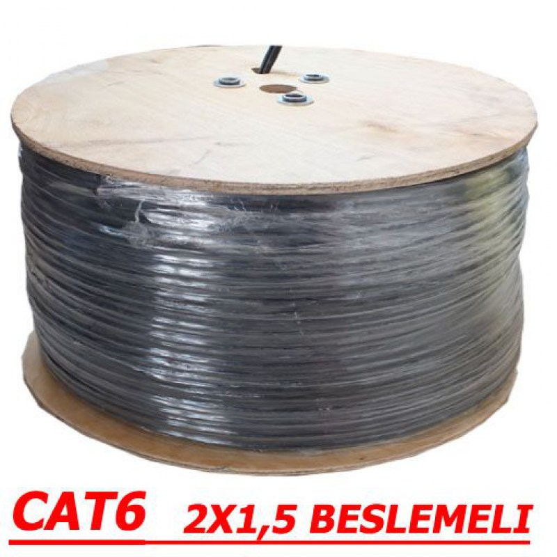 500 METRE CAT 6 23AWG FTP +2X1.5MM DUAL CCTV PE rulo-2